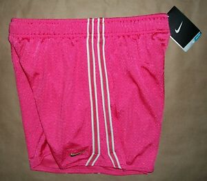 XL Girls Nike Athletic Shorts Pink with Gold Swoosh Running Yoga Fitness