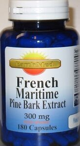 French Maritime Pine Bark Extract 300mg 180 capsules 90% Polyphenols Exp: 2024 $14.45
