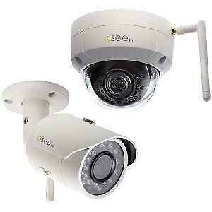 Q-see 3MP Wireless Bullet & Dome Security Camera Combo Pack with 16GB SD Cards