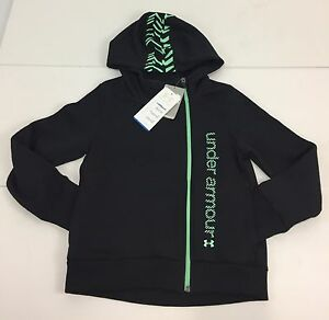 Under Armour Cold Gear Girls Small Sweatshirt Full Zip Hoodie Multicolor NWT $55