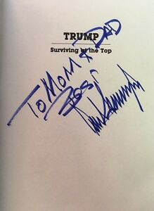 RARE Signed To Parents Family DONALD TRUMP SURVIVING AT TOP President AUTOGRAPH
