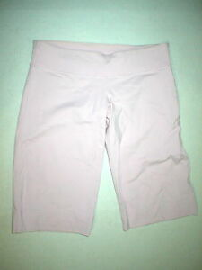 Womens Lululemon 8 10 Pale Pink Long Shorts EUC Logo Secret Pocket Yoga Pilates