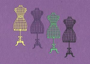 DRESS FORM 3 sewing die cuts scrapbook cards