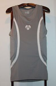 UNDER ARMOUR MPZ PADDED GRAY COMPRESSION BASKETBALL SHIRT SIZE 2XL