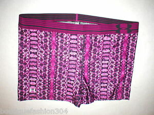 NWT Womens XL Under Armour Shorts Running Workout New Hot Yoga Pilates Purple
