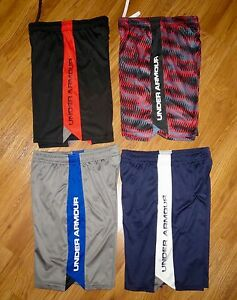 Lot 4 Pair Boy's UNDER ARMOUR Eliminator Loose Athletic Shorts YLG Large 1416