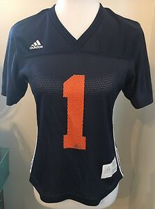 Auburn Tigers Jersey Adidas Women's Top S Navy Shirt Sec Football War Eagle