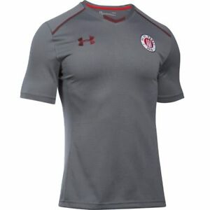 Under Armour Mens Football FC St. Pauli Training Short Sleeve Shirt Jersey Top