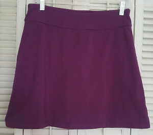 Athleta Womens Sweet Sport Skort Purple Built-in Mesh Shorts Stretch Zip Pocket