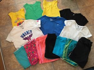 Girls One Navy Under Armour The Children's Place Lot 14 Shorts Tees Tanks