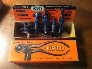 Lyman Ideal 310 Reloading Tool & 5 Die Steel Handle 8mm With Box