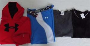 Boys L-XL UA Clothes LOT Under Armour Shorts Shirts  Hoodie Outfits  1214 1416