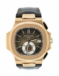 Patek Philippe Nautilus Chronograph Tiffany & Co 18K Rose Gold Watch 5980R-001