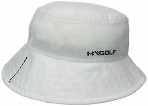 Under Armour Mens Storm Golf Bucket Hat White  Large 1274049-100