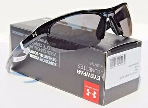 UNDER ARMOUR Stride XL Sunglasses Shiny BlackGray NEW SportCycle $80
