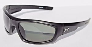 UNDER ARMOUR Power POLARIZED Sunglasses Satin BlackGray NEW SportCycle $125
