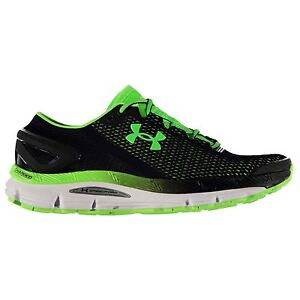 Under Armour SpeedForm Gemini 2 Running Shoes Mens BlkWhtGrn Trainers Sneakers