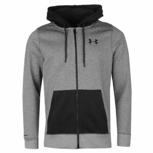 Under Armour Storm Rival Full Zip Hoodys Mens Black Hoodie Jacket Top Sportswear