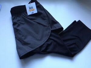 Puma X Stamped Women's 2 In 1 Shorts and Tights   Small