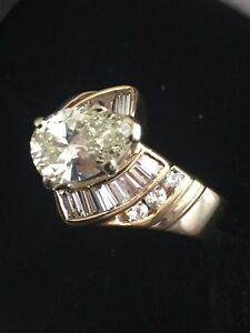 Ladies Engagement and wedding Diamond Band 14kt. yellow designer piece
