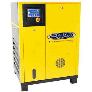 EMAX ERS0150003 15 HP 3 Phase Industrial Rotary Screw Air Compressor