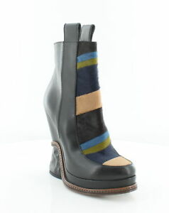 Fendi Chelsea Ice Wedge Women's Boots Multi ColorBlack Size 8 M