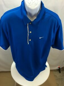 Nike Blue Polo Dry Fit Shirt Men's Size Large