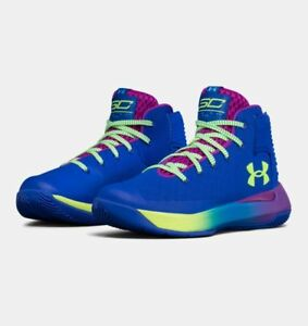 Under Armour Boys Basketball Shoes Curry 3Zero Team Royal-Purple Rave