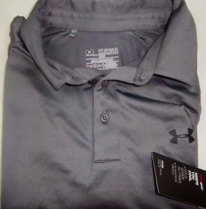 NWT Under Armour Heat Gear Loose Fit Dry Style Polo Shirt Size MEDIUM
