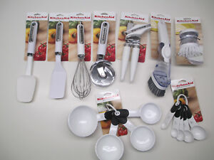 KitchenAid white kitchen utensils