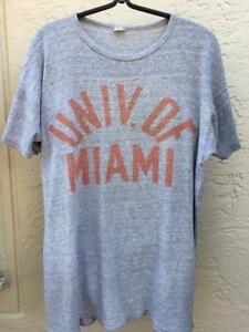 VINTAGE 50's UNIVERSITY OF MIAMI CHAMPION RUNNING MAN LABEL T-SHIRT XL 46