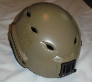 AUTHENTIC Ops-Core FAST BUMP HELMET URBAN TAN W WORM DIAL SIZE M