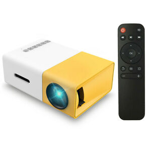 Mini Pocket 1080p Portable Projector Home Cinema 3D Movie LED AV TV VGA USB SD