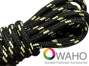 Heavy Duty Black Shoe / Boot Laces made with Natural Dupont™ Kevlar®