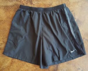 Nike Men's Dri-Fit Black Running Shorts with Lining Size Large