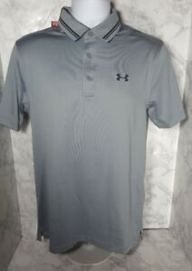 Under Armour Men's Tech Golf Polo LOOSE FIT Size Small Gray New