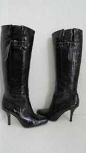 Jimmy Choo Crinkled Patent Leather Tall  BootsShoes Size 39
