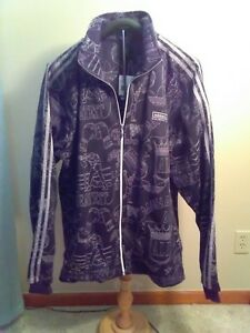 Adidas AOE superstar MUHAMMAD ALI Track sweat shirt Top Jacket firebird-Size 2XL