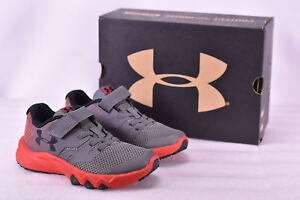 Boy's Under Armour 1302646100 BPS Primed Shoes GraphiteRed