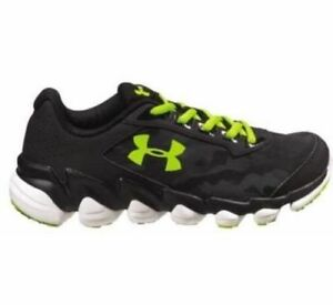 New Under Armour Boys BGS Spine Disrupt Camo Running Shoes Youth 6.5 Black Yello