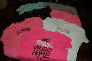 Women's Under Armour Workout Running Shirts Lot of T-Shirts 7 Total XL