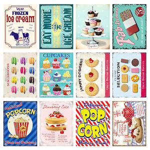 Sweets Cakes Retro Metal Signs Plaques Man Cave Novelty Gift Kitchen