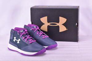 Girl's Under Armour 1296012962 Jet 2017Basketball Shoes Apollo Grey   1Y