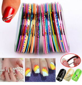 15Pcs Mixed Colors Rolls Striping Tape Line DIY Nail Art Tips Decoration Sticker $5.40