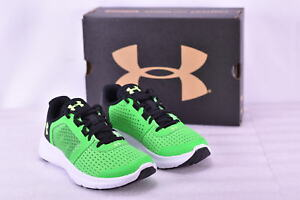 Boy's Under Armour 1285439300 Micro G Fuel Running Shoes Lime Twist