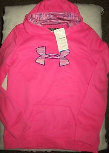 UNDER ARMOUR Youth Size XL Storm Pink Hoodie: New