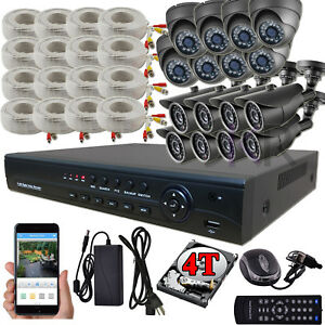 Sikker 16 Ch Channel HD DVR Recorder 2 Megapixel 1080P Security Camera System