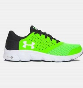 Boy's Youth UNDER ARMOUR RAVE RUN Green+Black Running Casual Shoes 1285436 NEW