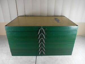 Vintage Wille Bait File Tiered Tackle Box LOADED with LURES 7 Divider Sections