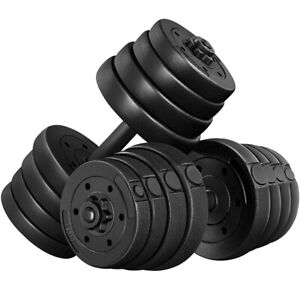 Weight Dumbbell Set 66 LB Adjustable Cap Gym Home Barbell Plates Body Workout $59.99